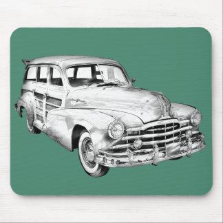 1948 Pontiac Silver Streak Woody Illustration Mousepad