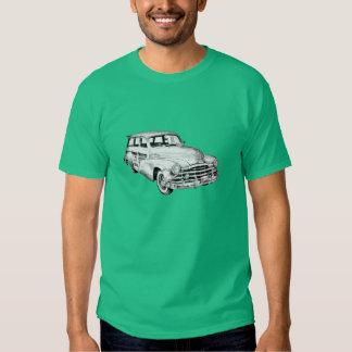 1948 Pontiac Silver Streak Woody Illustration T Shirt