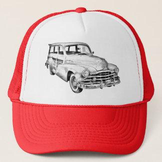 1948 Pontiac Silver Streak Woody Illustration Trucker Hat
