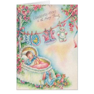 1948 Vintage Baby Congratulations Card
