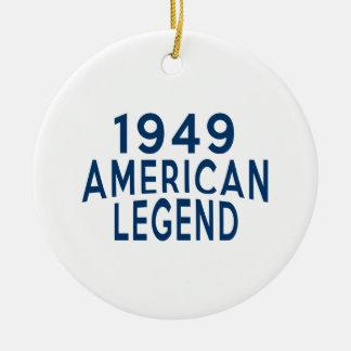 1949 American Legend Birthday Designs Ceramic Ornament