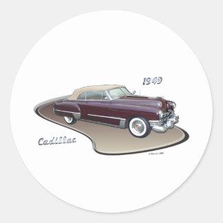 1949 CADILLAC CLASSIC ROUND STICKER