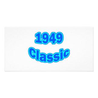 1949 Classic Blue Customized Photo Card