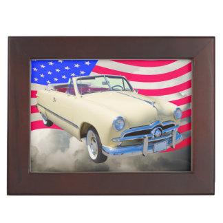 1949 Ford Custom Deluxe And American Flag Keepsake Box