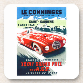 1949 French Grand Prix Racing Poster Beverage Coaster