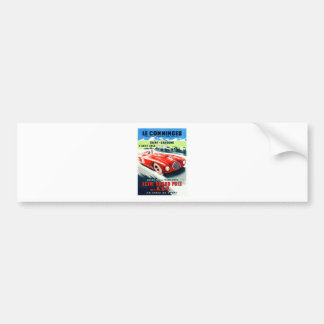 1949 French Grand Prix Racing Poster Bumper Sticker