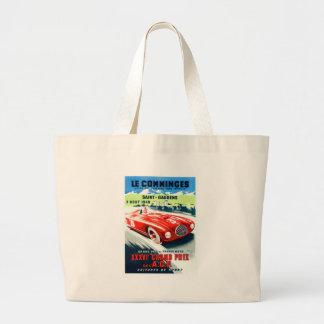 1949 French Grand Prix Racing Poster Large Tote Bag