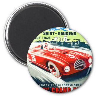 1949 French Grand Prix Racing Poster Magnet