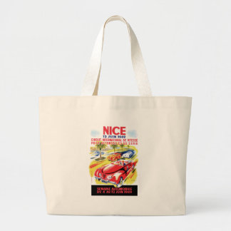 1949 Nice France Circuit Automobile Race Poster Large Tote Bag