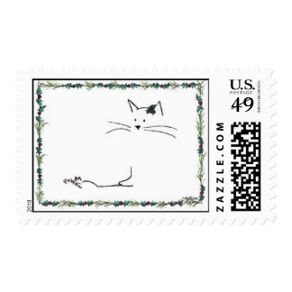 194-020  Cat Mouse Christmas Postage