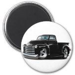 1950-52 Chevy Black Truck 2 Inch Round Magnet
