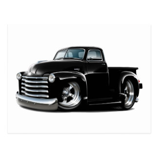 1950-52 Chevy Black Truck Postcard