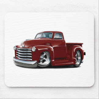 1950-52 Chevy Maroon Truck Mouse Pad