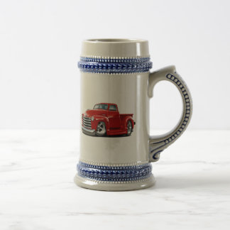 1950-52 Chevy Red Truck Beer Stein