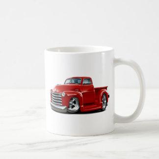 1950-52 Chevy Red Truck Classic White Coffee Mug