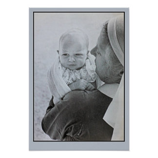 1950 Anne Princess Royal as a baby Posters