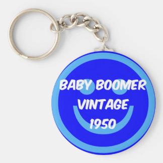 1950 baby boomer keychain