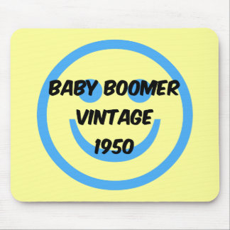 1950 baby boomer mouse pad