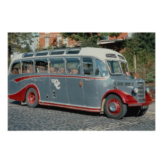 """1950 Bedford duple-bodied """"""""Vista"""""""" of Classic Coa Poster"""