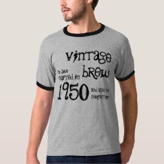 1950 Birthday Year 65th Vintage Brew Ringer T-Shirt