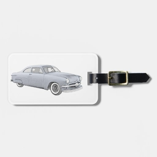 1950 Blue Ford Coupe Travel Bag Tags