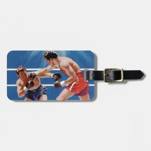1950 Boxing Sports Vintage Hiking Duck Bag Tags