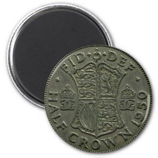 1950 British Half Crown magnet