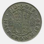 1950 British Half Crown sticker