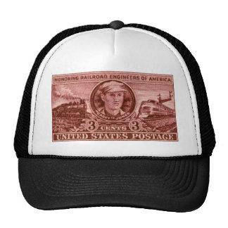 1950 Casey Jones Railroad Stamp Hat