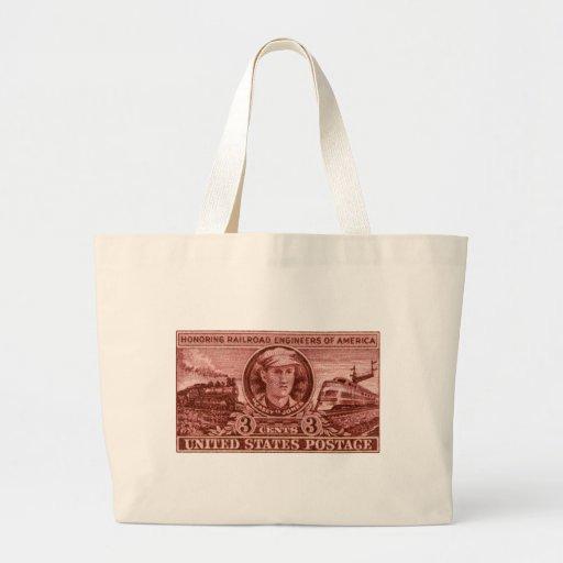 1950 Casey Jones Stamp Jumbo Tote Bag