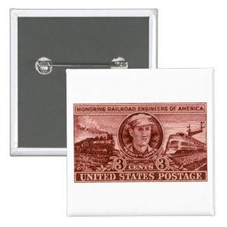 1950 Casey Jones Stamp Pinback Button