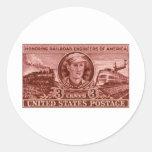 1950 Casey Jones Stamp Round Stickers