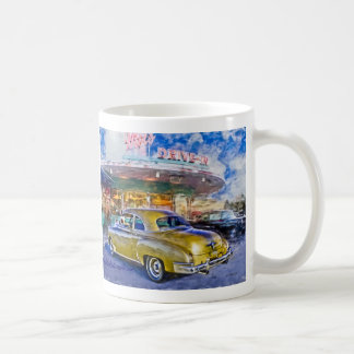 1950 chevy at drive-in coffee mug