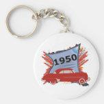 1950 Chevy Basic Round Button Keychain