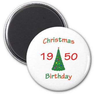 1950 Christmas Birthday 2 Inch Round Magnet