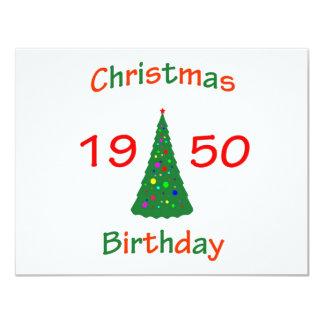 1950 Christmas Birthday Card