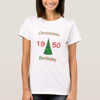 1950 Christmas Birthday T-Shirt