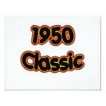 "1950 Classic 4.25"" X 5.5"" Invitation Card"