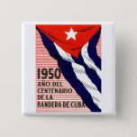 1950 Cuban Flag Poster Button