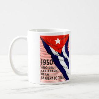 1950 Cuban Flag Poster Coffee Mug