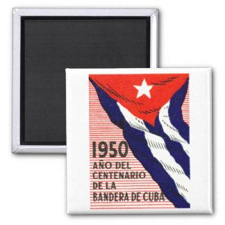 1950 Cuban Flag Poster Magnet