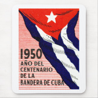 1950 Cuban Flag Poster Mouse Pad