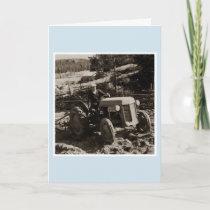 1950 Ferguson tractor Finland Birthday card
