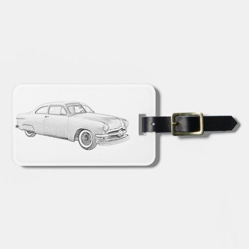 1950 Ford Coupe Tag For Luggage