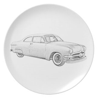 1950 Ford Coupe Party Plate