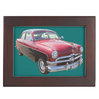1950 Ford Custom Deluxe Classsic Antique Car Keepsake Boxes