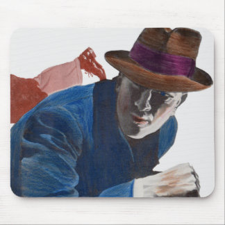 1950 gritty detective action mouse pad