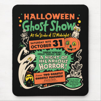 1950 Halloween Ghost Show Mouse Mats