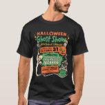 "1950 Halloween Ghost Show T-Shirt<br><div class=""desc"">Halloween Ghost Show - 1950 vintage artwork taken directly from an original Spook Show poster!  High resolution/high quality design!</div>"