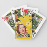 1950 Happy Housewife Oilcloth Playing Cards